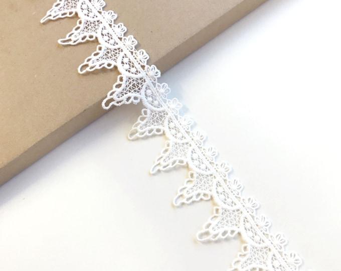 """Off White cotton edge lace trim 1 1/2"""""""