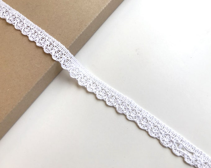 "Off White 3/4"" Cotton Edge Lace Trim (LT15)"
