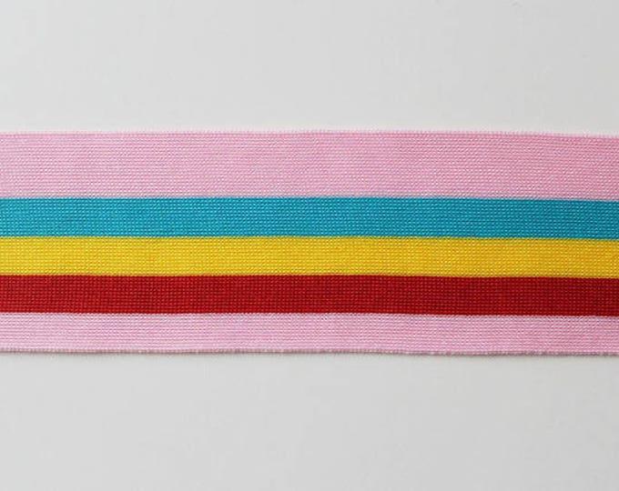 "Multiple colorway 2 1/4"" rib knit trim"