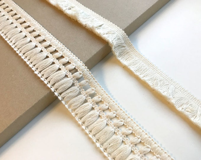 Natural Fringe Lace 2 Various Width and Shape