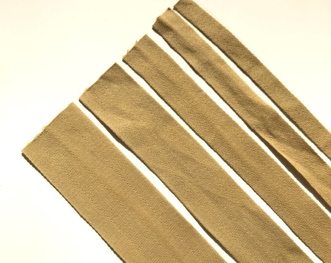 "Brown Cotton twill tape( 1/2, 3/4, 1, 1 1/2"", 2"") -  PetiteCocoCrafts Signature cotton ribbon collection (TRIM BASIC 10)"