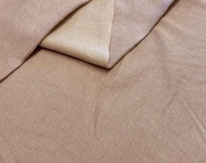 """Cotton/Poly/Spandex Rib knit fabric - Taupe 46/47"""" matching rib (Selling per yard)(Fabric R)"""