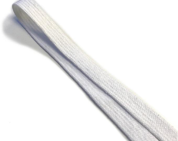 """Off White Cotton draw cord strap 1/2"""""""
