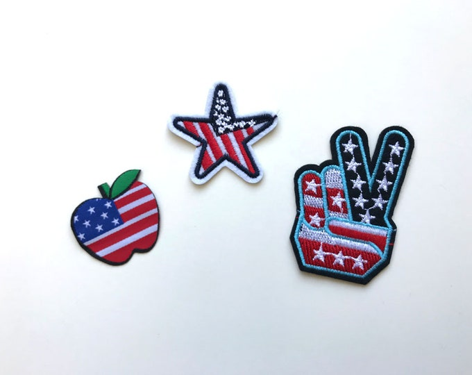 Independence day Applique, Iron on Patch, Sew on Patch