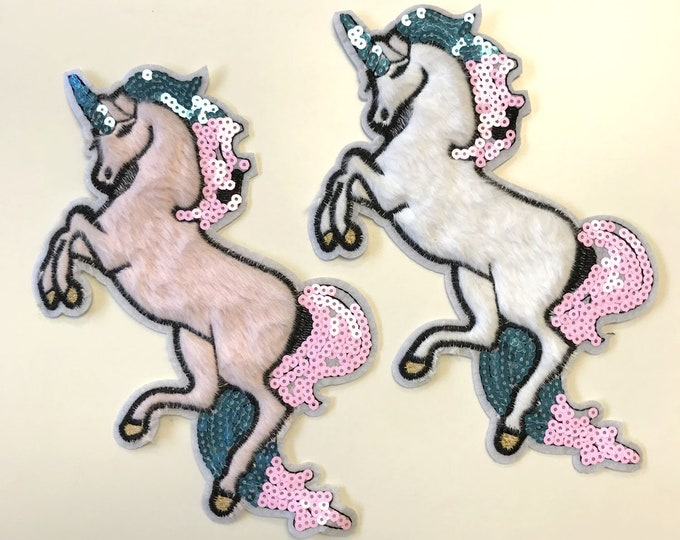 Unicorn Embroidered Applique, Sew on Patch