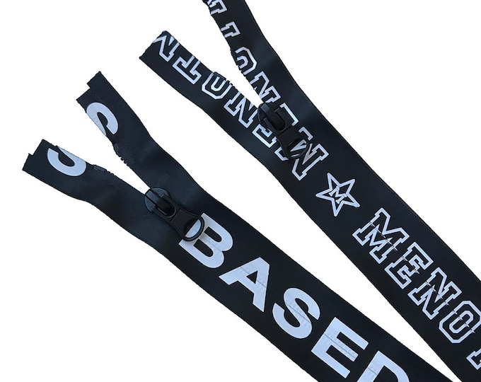 Water proof nylon coil open zipper with logo and peanut puller