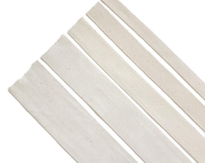 "Natural Cotton twill tape( 1/2, 3/4, 1, 1 1/2"", 2"") -  PetiteCocoCrafts Signature cotton ribbon collection"