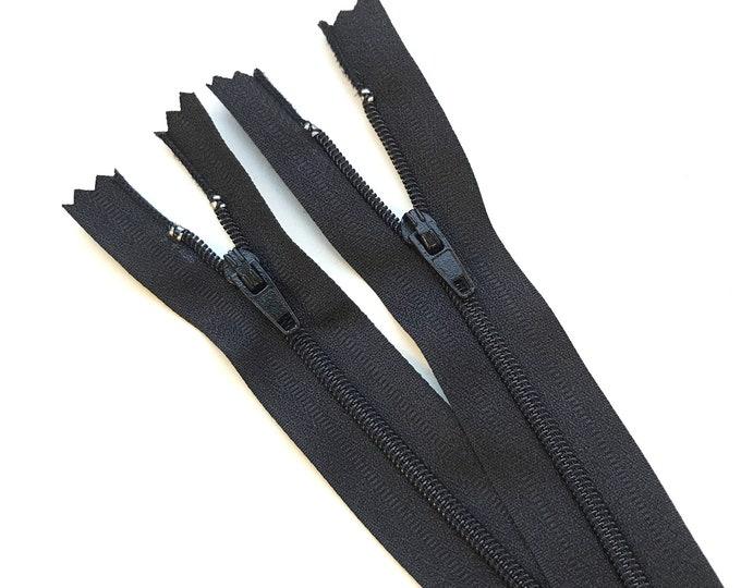 "Black Nylon Coil Zipper(6"". 6.5"") with DA5 puller (ZIPPER2)"
