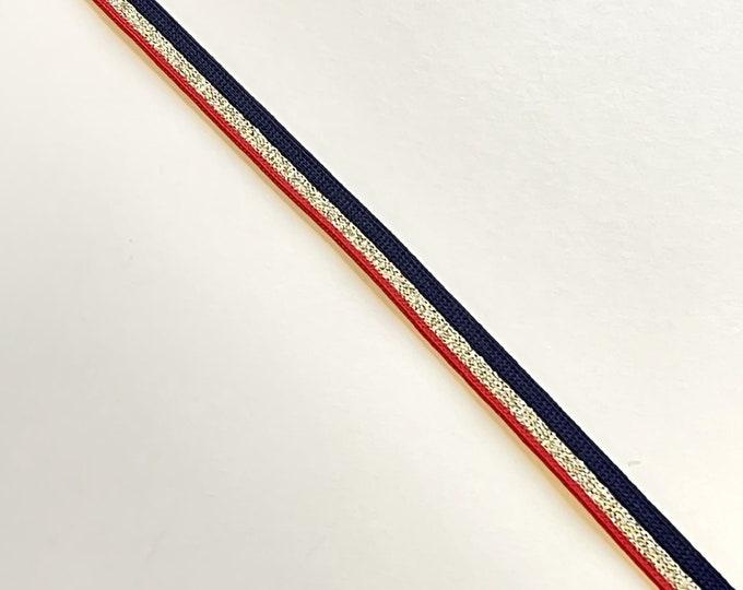 "Lurex Gold/Red/Black 3/8"" rib knit trim(FT10)"