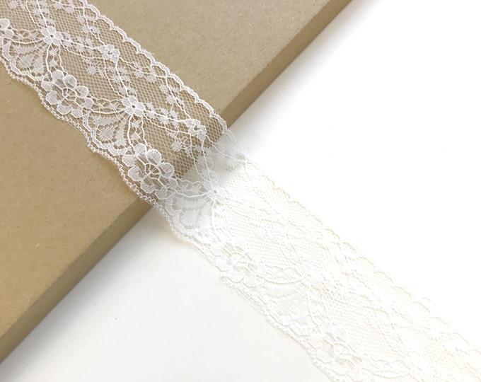 "White 2"" width Lace Trim (LT18)"