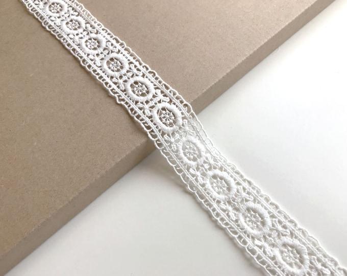 """Off White color 1 1/4"""" lace trim (LT15)"""