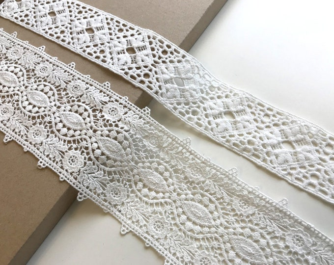 Off White 2 Various Width and Shape Lace Trim (LT19)