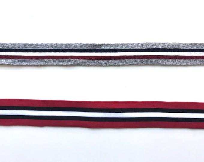 "Multiple colorway 1~1 1/4"" rib knit trim(FT7)"