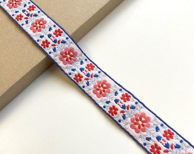 Jacquard trim(Soft touch, floral pattern) (FT6)