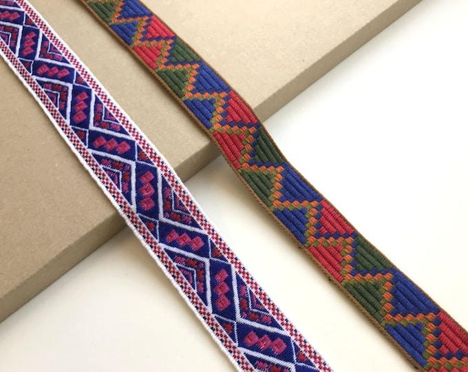 Jacquard trim(Soft touch, 2 tribal pattern) (FT6)