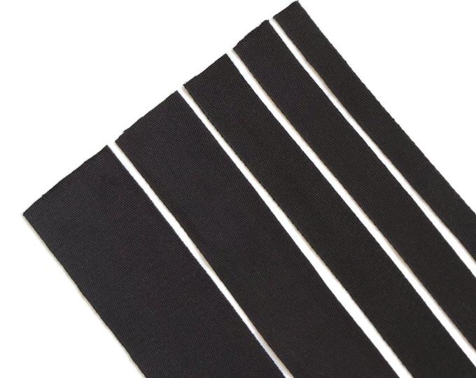 """Black Cotton twill tape( 1/2, 3/4, 1, 1 1/2"""", 2"""") -  PetiteCocoCrafts Signature cotton ribbon collection"""