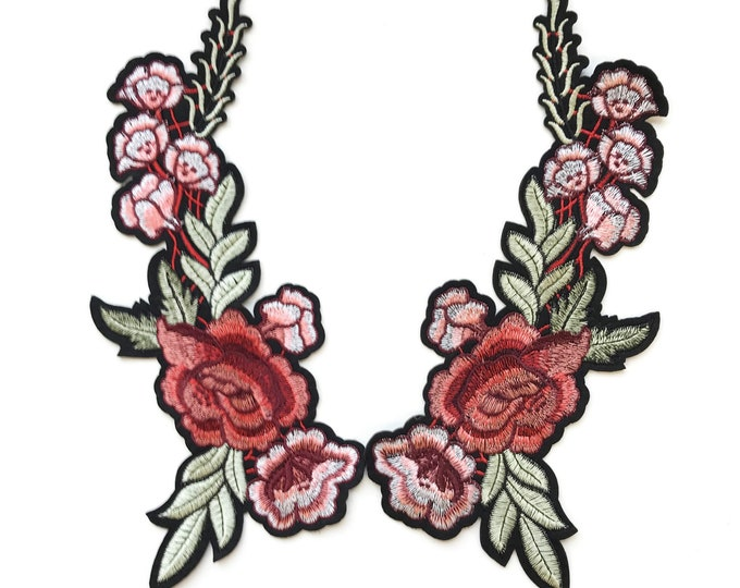 Multiple color flower Embroidered Applique Patch (LOC Patch 2)