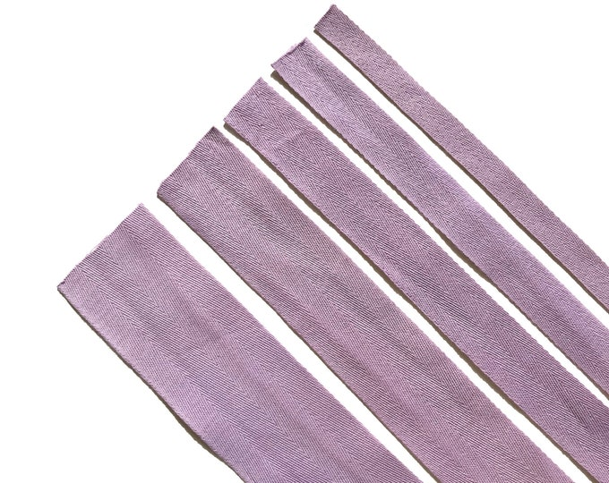 "Purple Violet Cotton twill tape( 1/2, 3/4, 1, 1 1/2"", 2"") -  PetiteCocoCrafts Signature cotton ribbon collection (TRIM BASIC 10)"