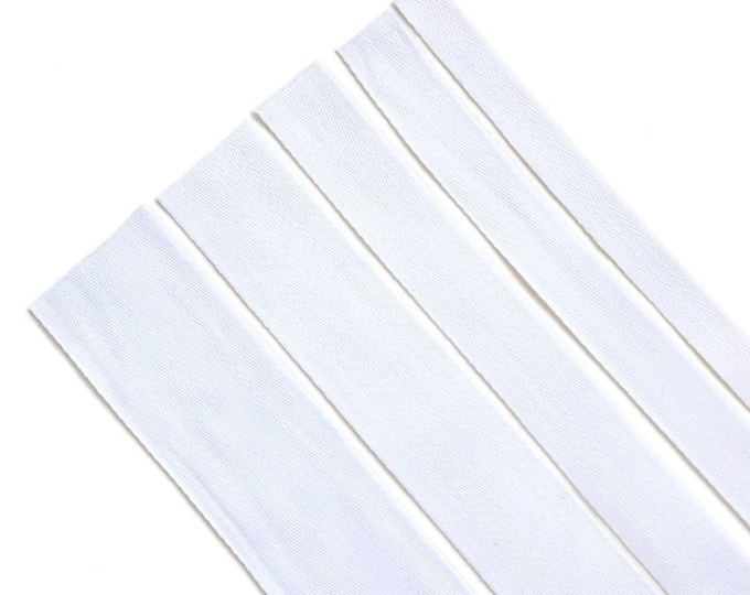 """Off White Cotton twill tape( 1/2, 3/4, 1, 1 1/2"""", 2"""") -  PetiteCocoCrafts Signature cotton ribbon collection"""
