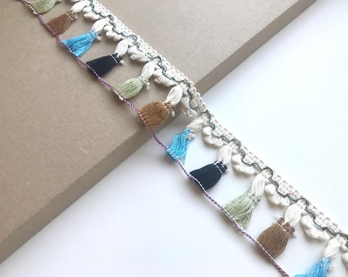 Multi fringe tassel tape trim