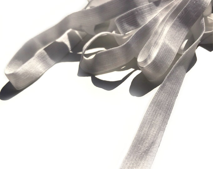 "3/8""(10mm) high quality elastic strap, White - Selling per yard, or pack (Trim Basic 15)"