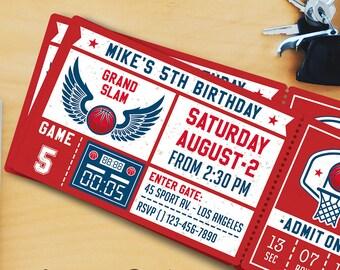 Basketball Birthday Party Invitation Templates 3