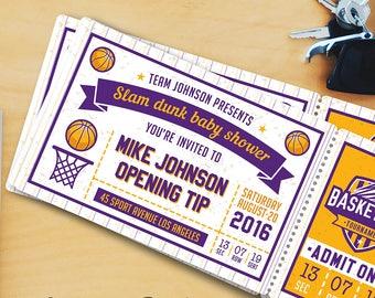 Basketball Baby Shower Invitation Templates