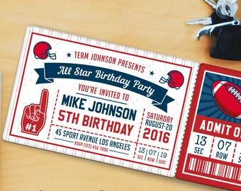 Football Birthday Party Invitation Templates 2
