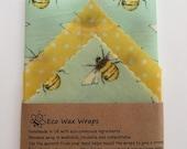 100 Natural Beeswax Food Wrap-Set of 3