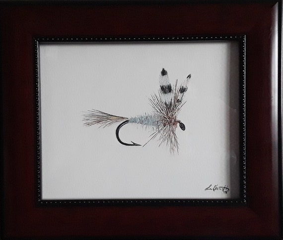 fly fishing Art print Adams Nymph Fly Print