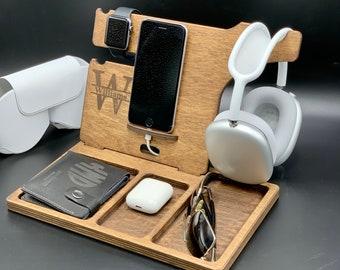 Personalized AirPod Max Headphone Stand, Headphone holder, Gamer gift, DJ gift, Headphone hanger, Custom headphone dock station