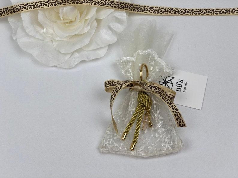 Christening First Communion Baptism favor bag Wedding favor bag Baby shower Orthodox Baptism 30 LaceLeopard favor bag Thank you bagg