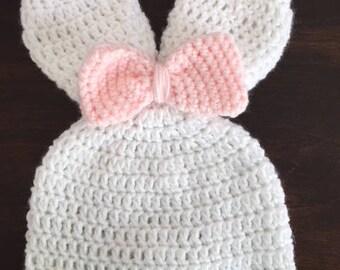 Children's Crocheted Bunny Hat