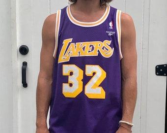 07c54b37 Vintage Magic Johnson Lakers Jersey - Reebok