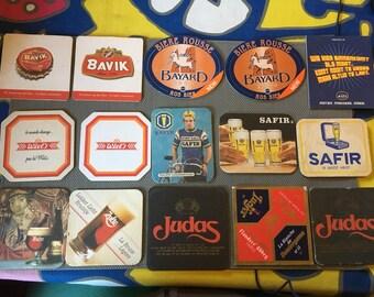 15 pieces, Bavik beer Coasters