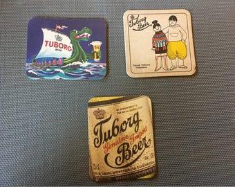 3 pieces Beer Coasters tuborg beer