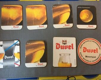 8 pieces Duvel Beer Coasters