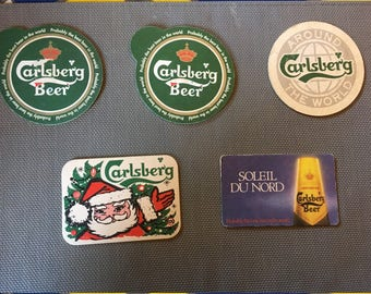 5 Pieces, Carlsberg Beer Coasters