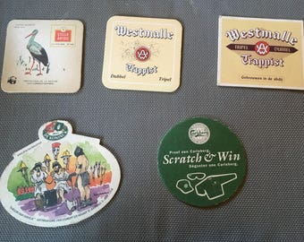5 pieces Beer Coasters
