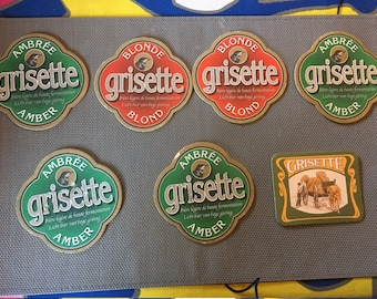 7 pieces Grisette Beer Coasters
