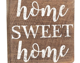Home Sweet Home Sign, Wall Decor, Wooden Sign, Rustic Wood, Wall Mounted, Wooden Wall Sign, Housewarming Gift, New Home Gift