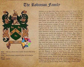 Coat of Arms and Surname History,Coat of Arms,Surname History,Last Name History,Last Name Crest,Father's Day Gift,Family Crest,Surname Print
