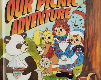 Raggedy Ann and Andy, Personalized Children's Books, Picnic Adventure, Personalized Stories, Children  Books, Collectible Stories