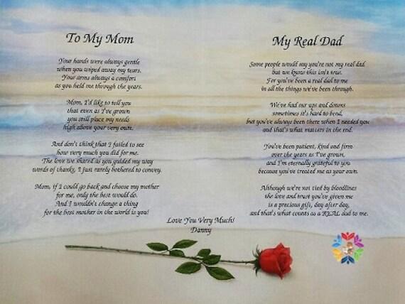 Poem for Parents,Poem for Mom,Poem for Dad,Poem for Step Dad,Personalized  Poems,Poem for Mother,Poems for Mom,Red Roses,Parent's Poem,Poems