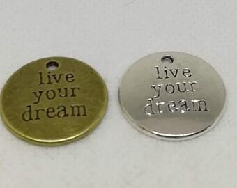 12  Dream charms antique silver tone M147