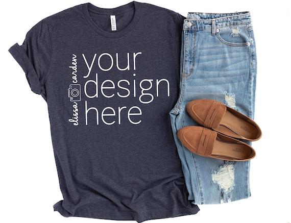 Bella Style # 3200 - Original Label L - BLK Heather//BLK Canvas Unisex 3//4-Sleeve Baseball T-Shirt