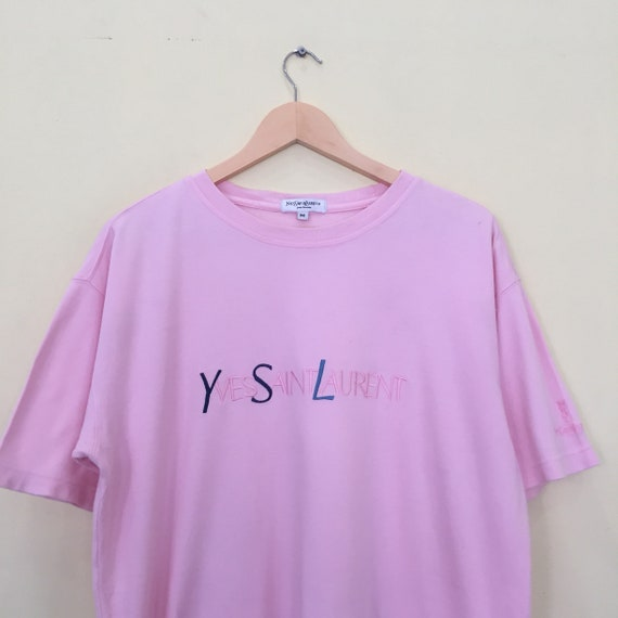 YVES Embroidery Rare SAINT Multicolour With And Tshirt Spellout Vintage Colour LAUREN Design Big Very HwCYdq