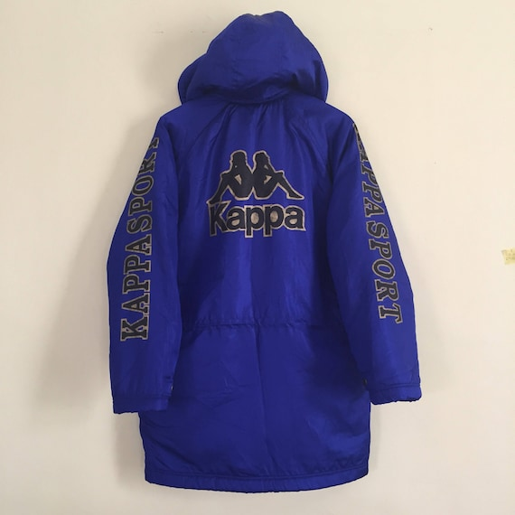 Fleece Logo Big KAPPA Nice Vintage Printed Jacket Colour And Spellout Design Very With Snap Hoodies Button And 0w5qOOdxX