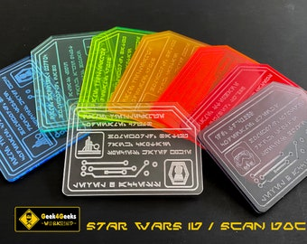 Star Wars inspired ID Card / Scan Doc