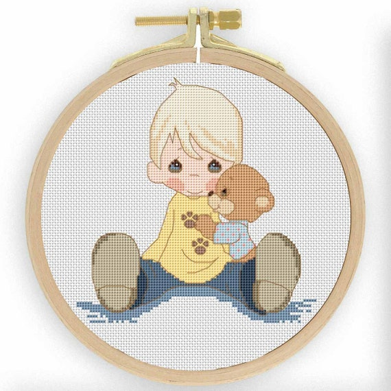Baby Cross Stitch Patterns Counted Cross Stitch Baby Patterns Tatty Teddy Counted Cross Stitch Pattern Nursery Room Decor Modern Embroidery